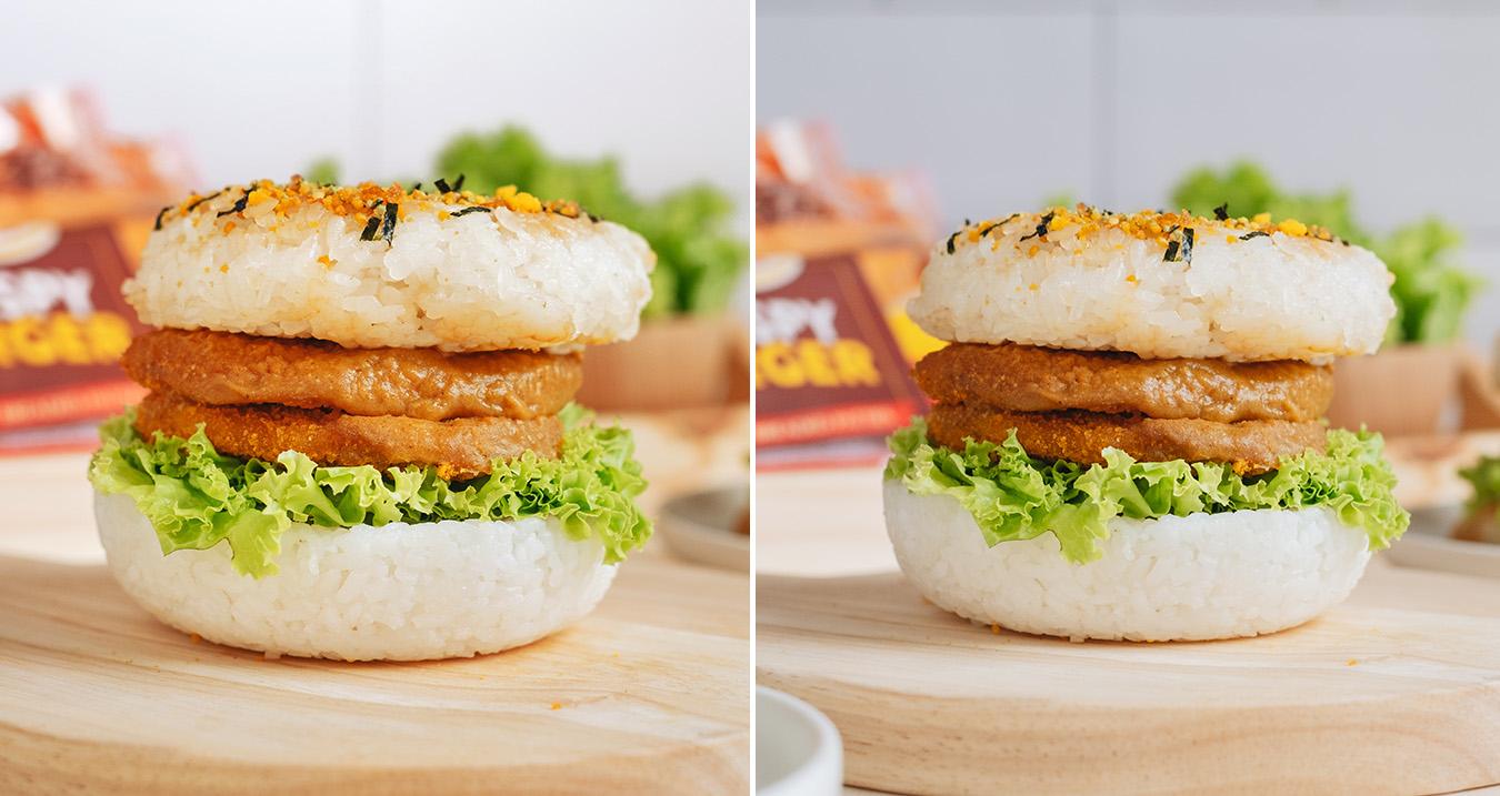 curry katsu rice burger